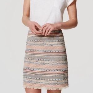 Loft Summer Tweed Skirt
